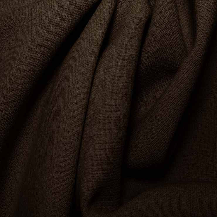 Wool Crepe Double Cloth 13 HeatherBrown