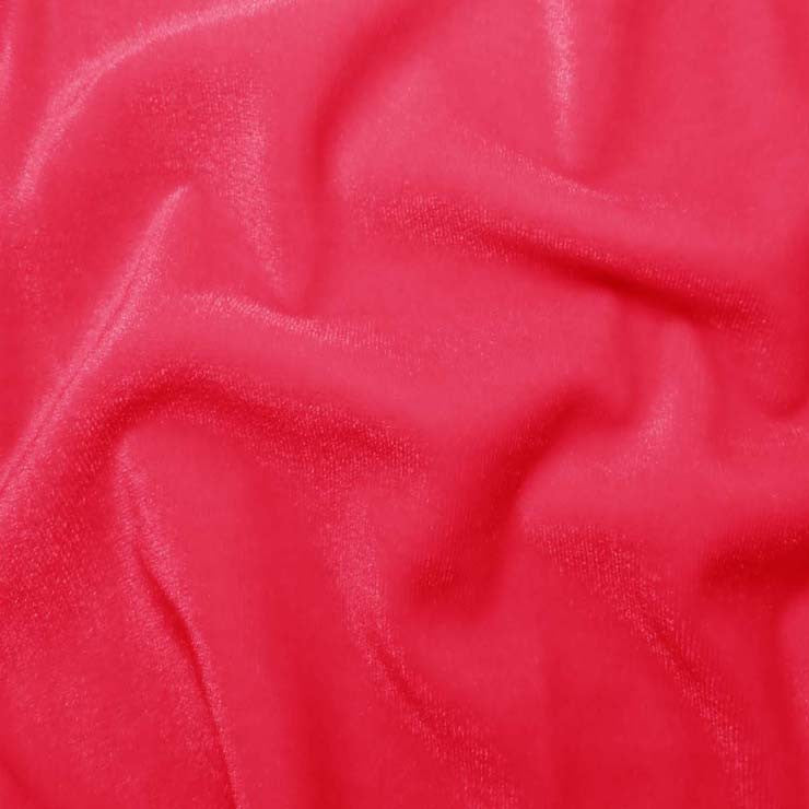 Polyester Stretch Velvet - 15 Yard Minimum 13 NeonPink