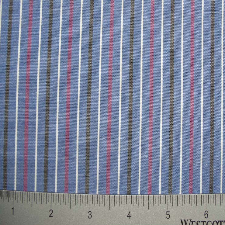 100% Cotton Fabric Stripes Collection #6 132 Y D0031BLU - NY Fashion Center Fabrics