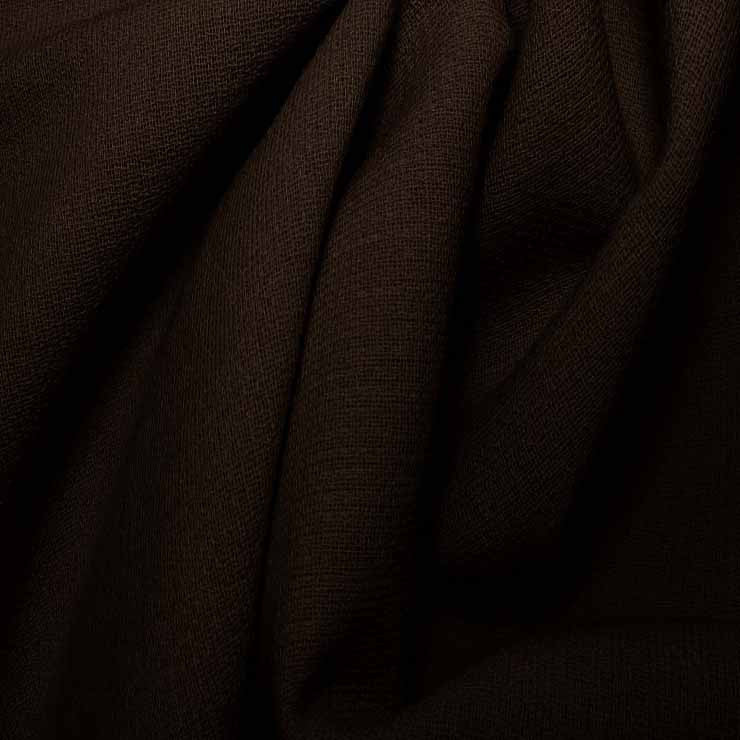 Wool Crepe Double Cloth 14 DarkBrown