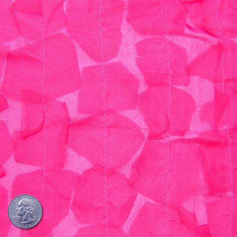Silk Chiffon Novelty Petal Fabric 14 Hot Pink
