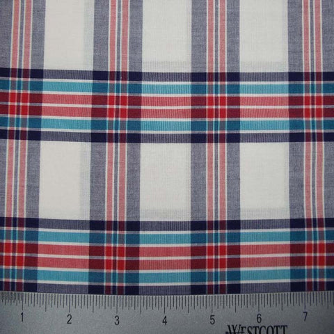 100% Cotton Fabric Checks Collection #1 14 KO3175 YD 9304MUL - NY Fashion Center Fabrics