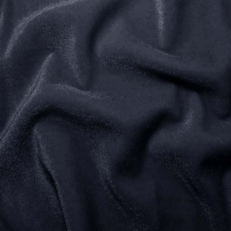 Polyester Stretch Velvet 14 Navy
