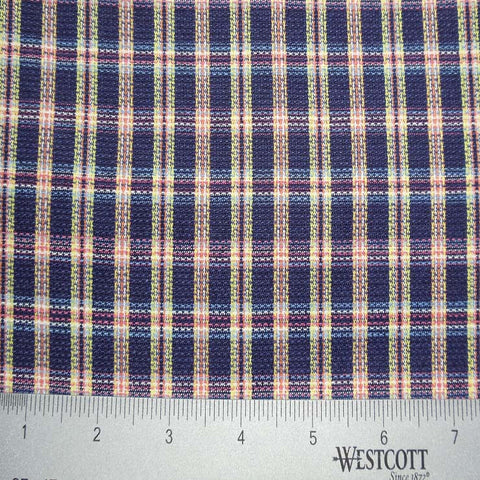 100% Cotton Fabric Checks Collection #4 14 Y D5213MUL - NY Fashion Center Fabrics