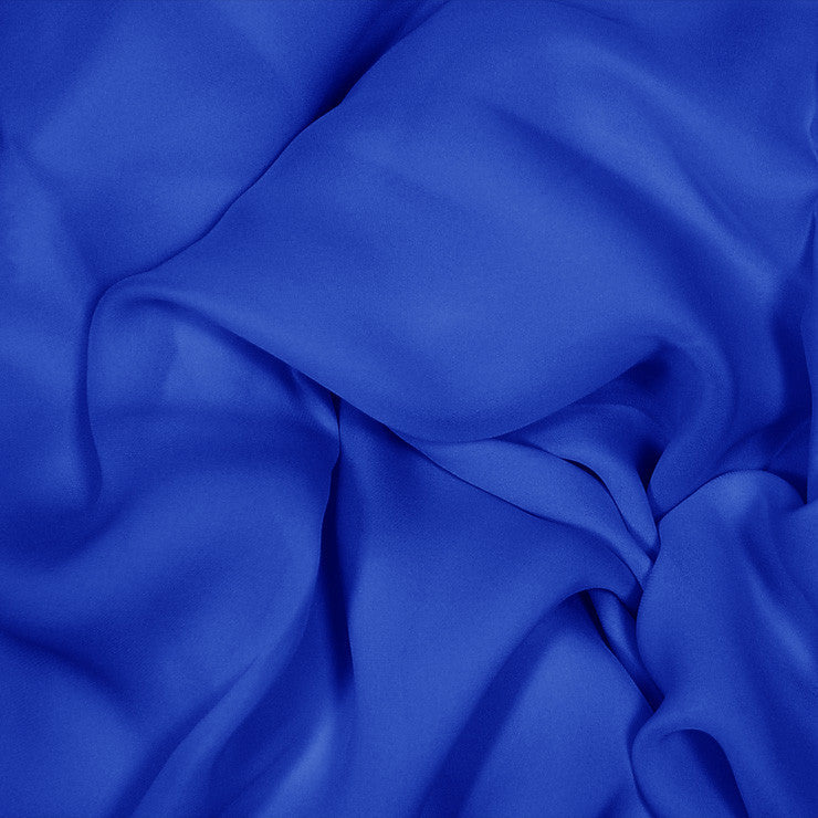 Silk Stretch Georgette Royal Blue