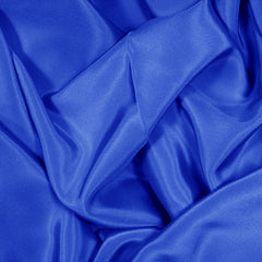 Silk Stretch Crepe De Chine Royal Blue