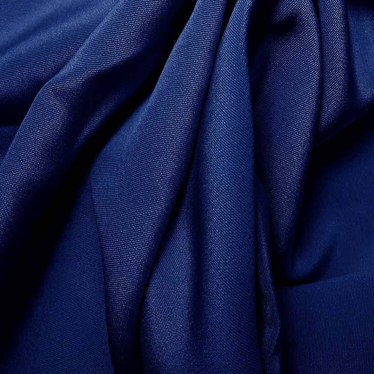Silk 4 Ply Woven Crepe Royal Blue