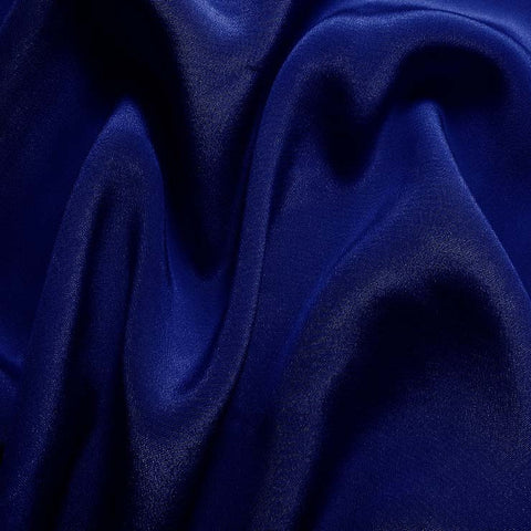 Silk Crepe de Chine Royal Blue