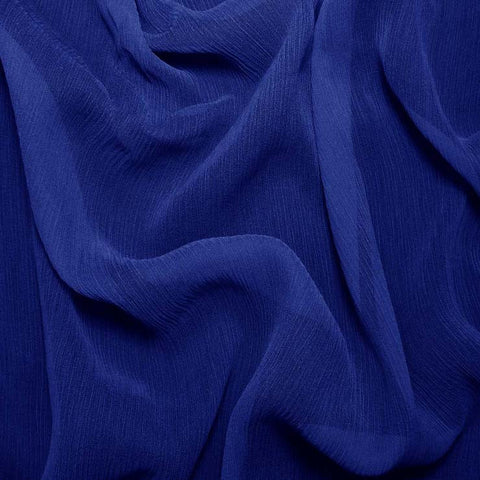 Silk Crinkle Chiffon Royal Blue