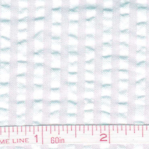 Cotton Blend Seersucker - 30 Yard Bolt 15 Bermuda White - NY Fashion Center Fabrics