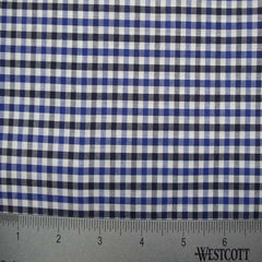 100% Cotton Fabric Checks Collection #2 15 KO 3473 Y D9836 B B - NY Fashion Center Fabrics
