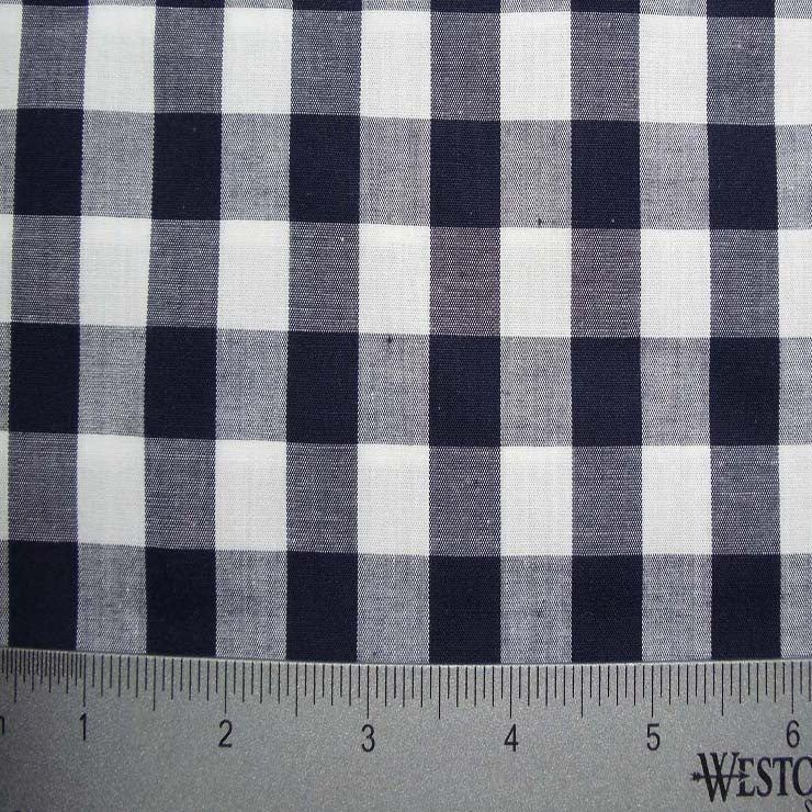 100% Cotton Fabric Checks Collection #6 15 Y D3695N W - NY Fashion Center Fabrics