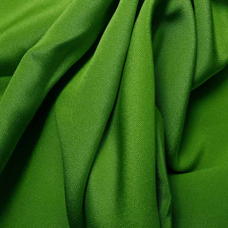 Silk 4 Ply Woven Crepe Lime Green