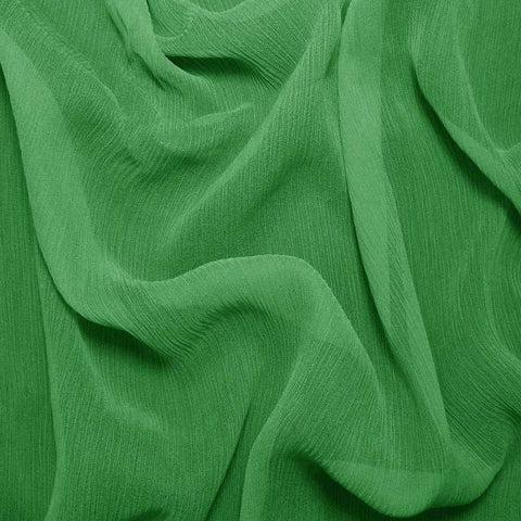 Silk Crinkle Chiffon Lime Green