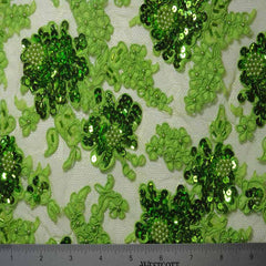 Alencon Beaded Lace #6 16 12060RB 36 Lime - NY Fashion Center Fabrics