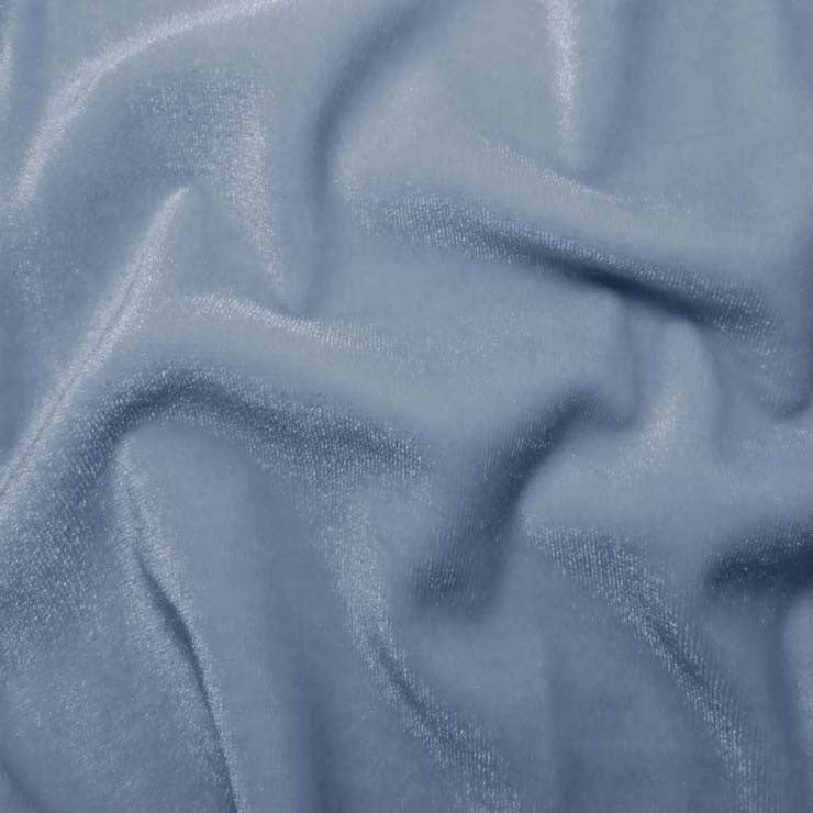 Polyester Stretch Velvet - 15 Yard Minimum 16 BabyBlue