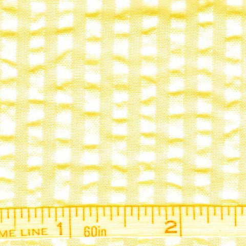 Cotton Blend Seersucker - 30 Yard Bolt 16 Bermuda Yellow - NY Fashion Center Fabrics