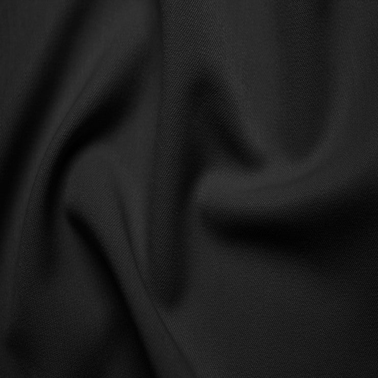 Poly/Rayon Blend Stretch Gabardine - 20 Yard Bolt 16 Black