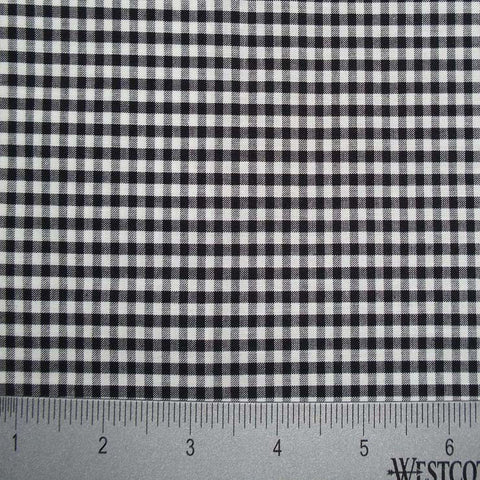 100% Cotton Fabric Checks Collection #5 16 KO 3472 Y D9835BLK - NY Fashion Center Fabrics