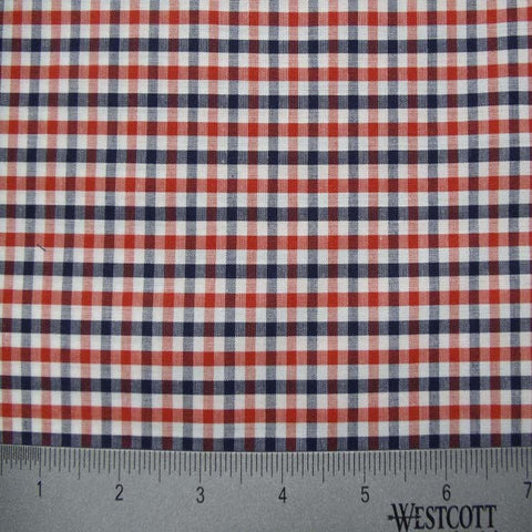 100% Cotton Fabric Checks Collection #2 16 KO 3473 Y D9836 R B - NY Fashion Center Fabrics
