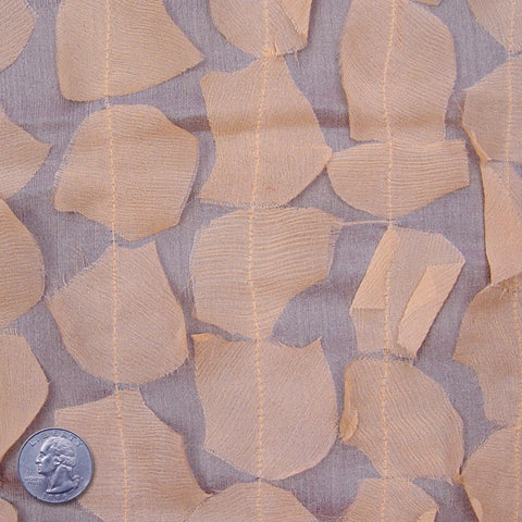 Silk Chiffon Novelty Petal Fabric 16 Light Peach