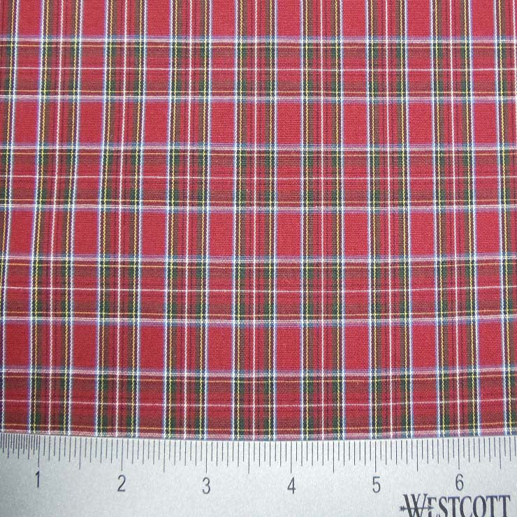 100% Cotton Fabric Checks Collection #1 16 Y D9312RED - NY Fashion Center Fabrics