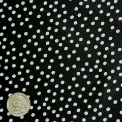 Silk Random Dots Print Crepe De Chine 16 black white
