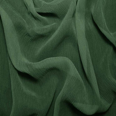 Silk Crinkle Chiffon Hunter Green