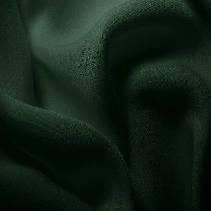 Silk Double Georgette Hunter Green