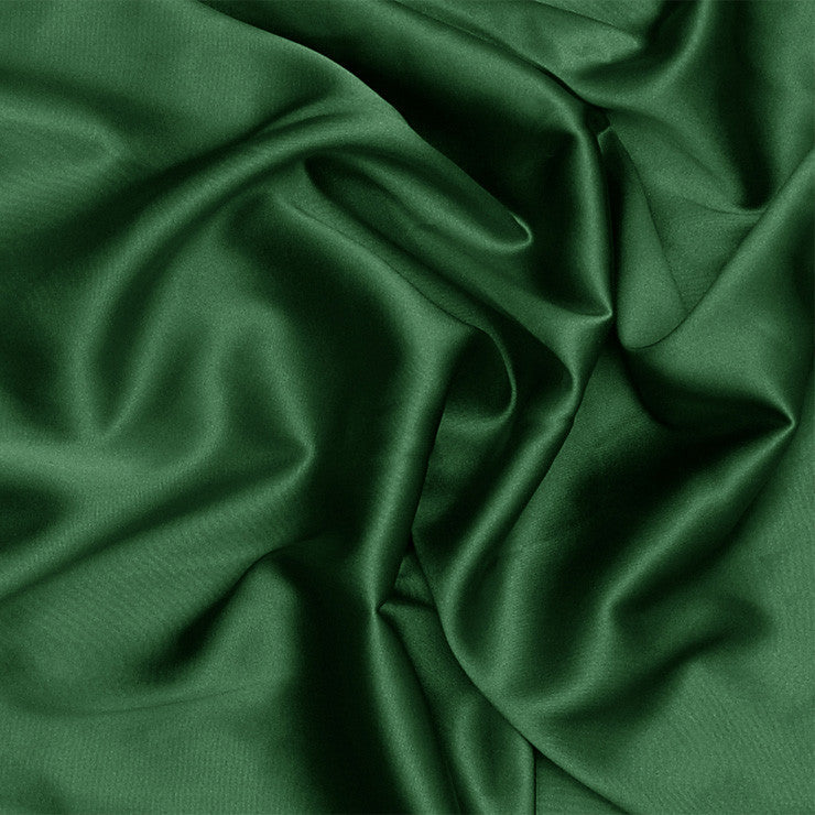 Silk Stretch Charmeuse Hunter Green
