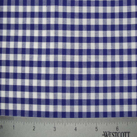 100% Cotton Fabric Checks Collection #2 17 KO 3474 Y D9837 NVY - NY Fashion Center Fabrics