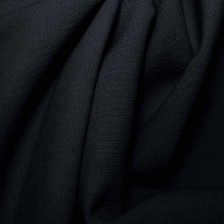 Wool Crepe Double Cloth 17 MidnightNavy