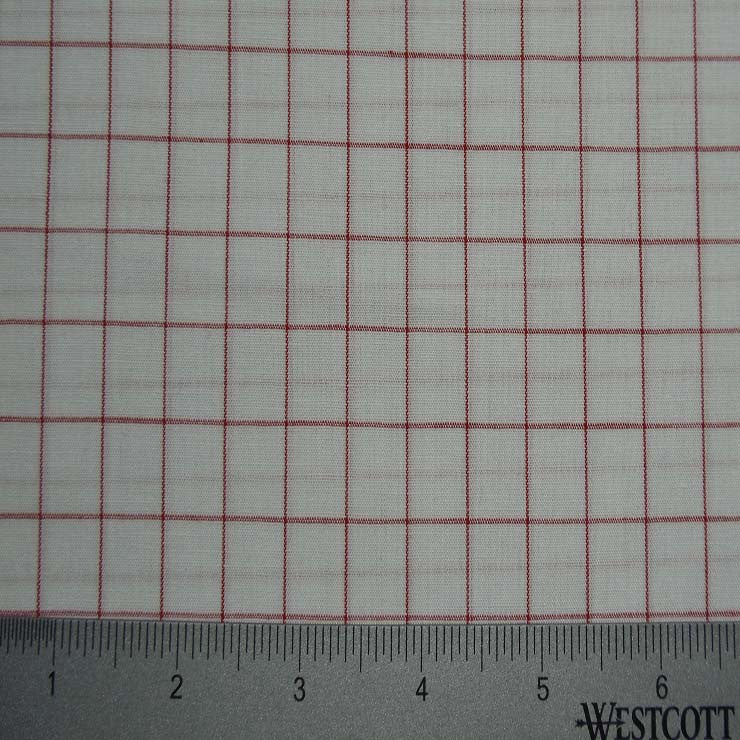 100% Cotton Fabric Checks Collection #4 17 Y D8355RED - NY Fashion Center Fabrics