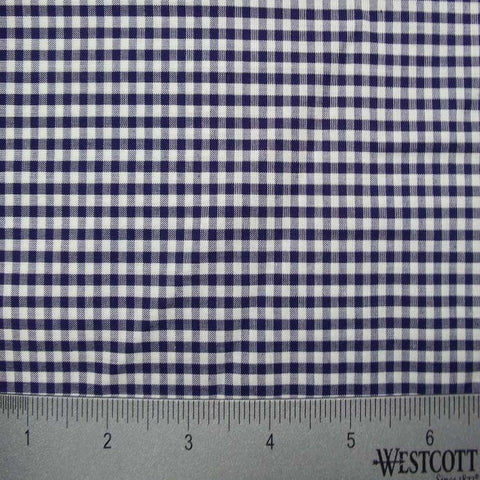 100% Cotton Fabric Checks Collection #3 17 Y D9835NVY - NY Fashion Center Fabrics