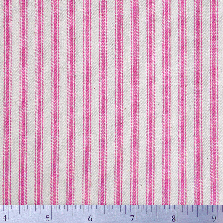 Cotton Stripe Ticking - 15 Yard Bolt 171504 Petal Pink - NY Fashion Center Fabrics