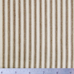 Cotton Stripe Ticking - 15 Yard Bolt 171506 Potting Soil Brown - NY Fashion Center Fabrics