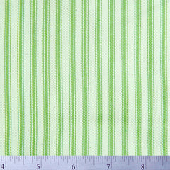 Cotton Stripe Ticking - 15 Yard Bolt 171507 Apple Green - NY Fashion Center Fabrics