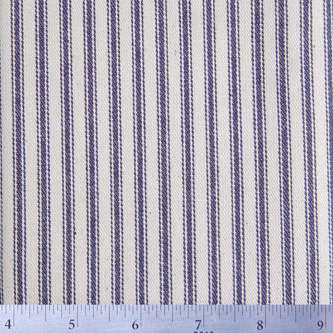 Cotton Stripe Ticking - 15 Yard Bolt 171517 Blue - NY Fashion Center Fabrics