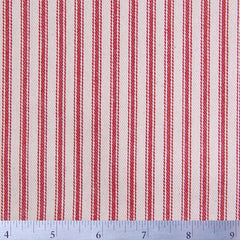Cotton Stripe Ticking - 15 Yard Bolt 171520 Red - NY Fashion Center Fabrics