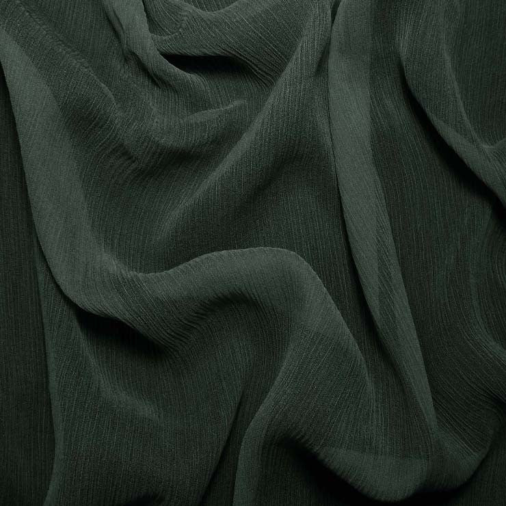 Silk Crinkle Chiffon Real Navy