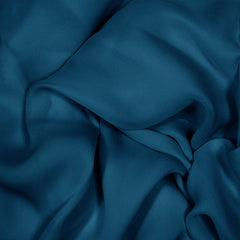 Silk Stretch Georgette Real Navy
