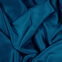 Silk Stretch Crepe De Chine Real Navy