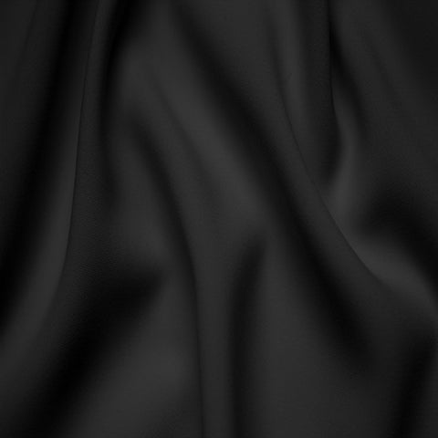 Polyester Stretch Crepe Jersey 18 Black