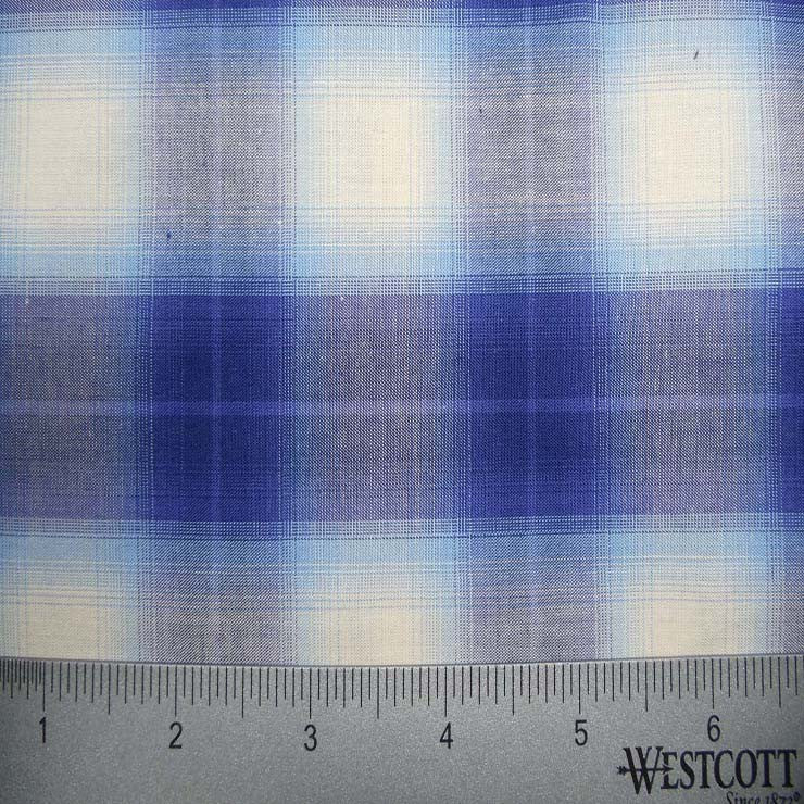 100% Cotton Fabric Checks Collection #6 18 KO 3419 Y D9729BLU - NY Fashion Center Fabrics