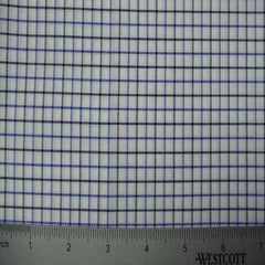 100% Cotton Fabric Checks Collection #1 18 KO3217 Y D8385BLU - NY Fashion Center Fabrics