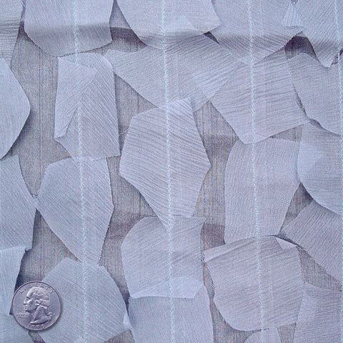 Silk Chiffon Novelty Petal Fabric 18 Light Slate Blue