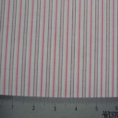 100% Cotton Fabric Stripes Collection #11 18 STR1105PNK - NY Fashion Center Fabrics