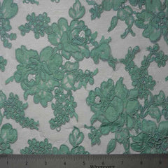 Alencon Lace #6 19 12060R 36 Aqua - NY Fashion Center Fabrics