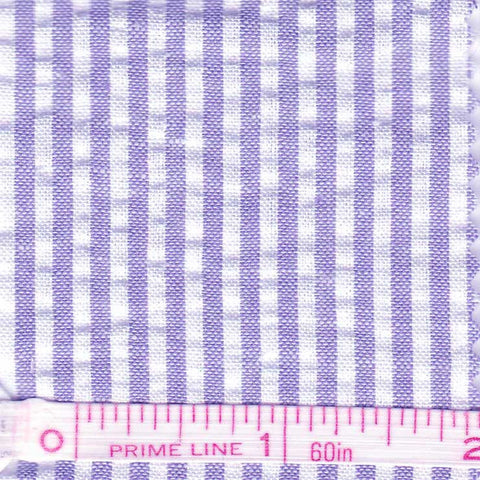 Cotton Blend Seersucker - 30 Yard Bolt 19 Narrow Blue - NY Fashion Center Fabrics