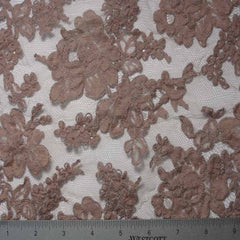 Alencon Lace #7 20 12060R 36 Mauve - NY Fashion Center Fabrics